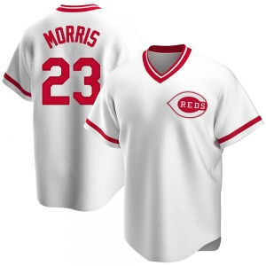 Youth Cincinnati Reds Hal Morris Replica White Home Cooperstown Collection Jersey