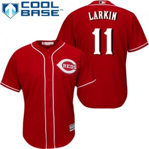 Men's Majestic Cincinnati Reds Barry Larkin Authentic Red Alternate Cool Base Jersey